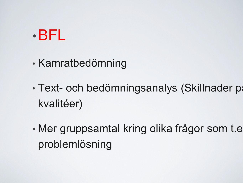 BFL Kamratbedömning.