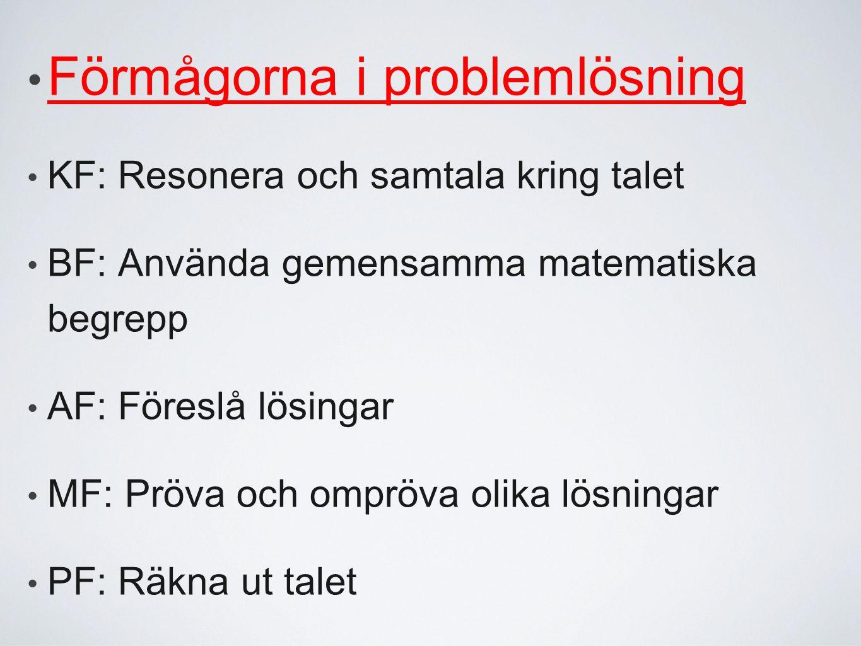 Förmågorna i problemlösning