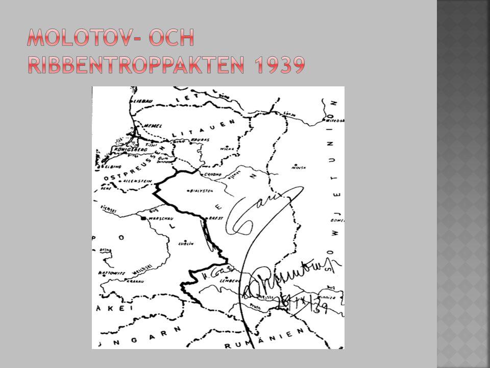 Molotov- och ribbentroppakten 1939