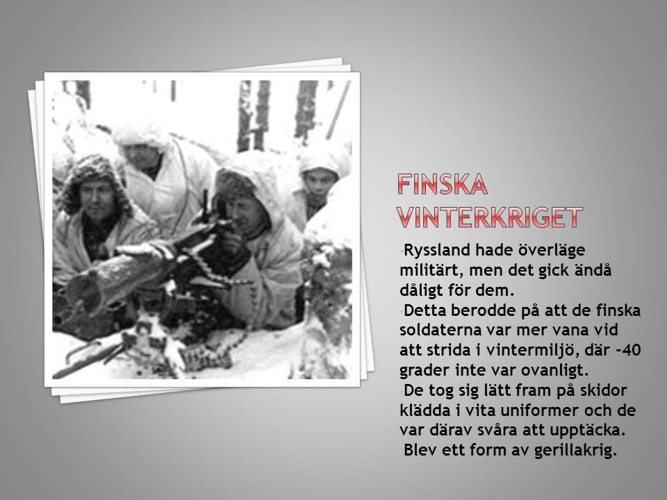 Finska vinterkriget Ryssland hade överläge militärt, men det gick ändå dåligt för dem.