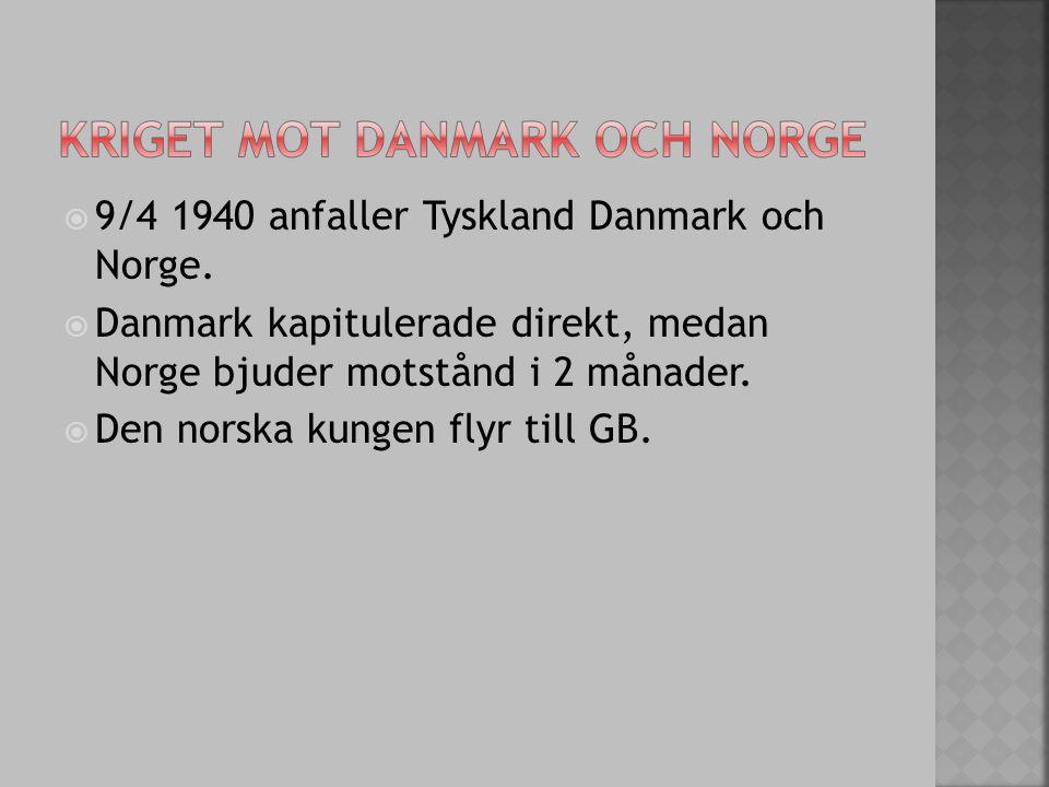 Kriget mot Danmark och norge