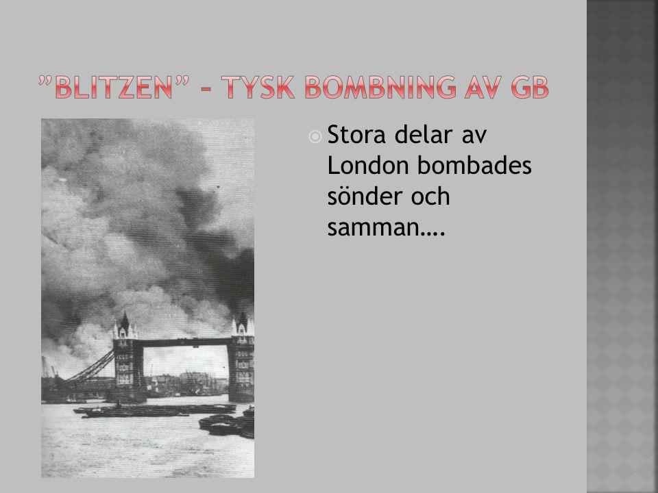 Blitzen – tysk bombning av GB