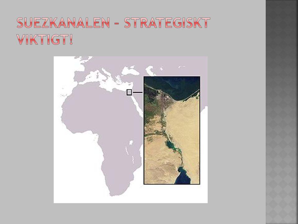 Suezkanalen – strategiskt viktigt!