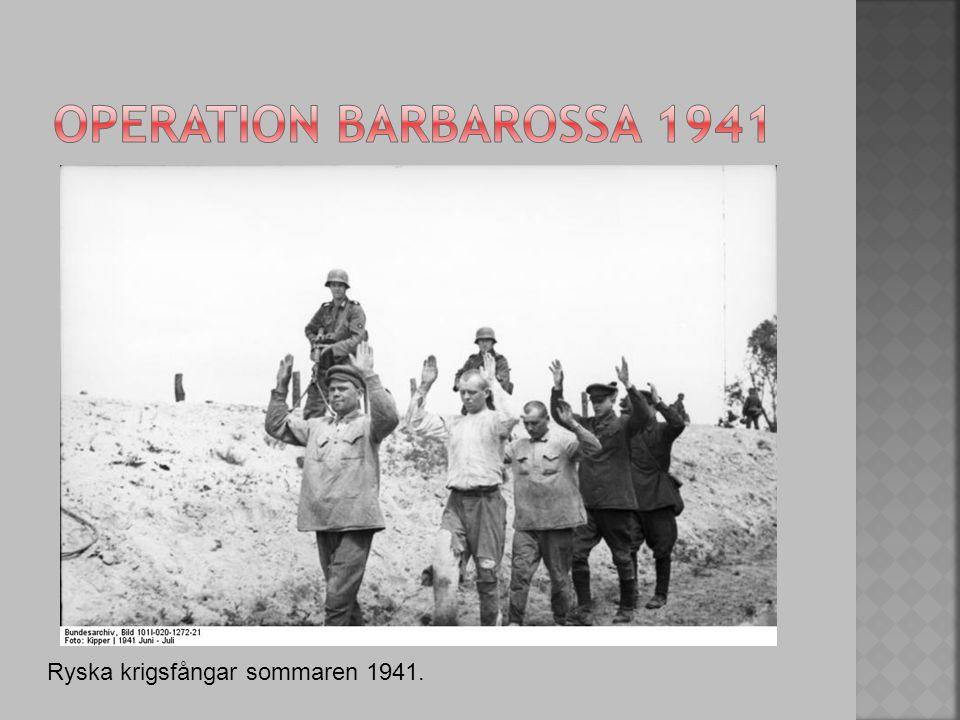 Operation barbarossa 1941 Ryska krigsfångar sommaren 1941.