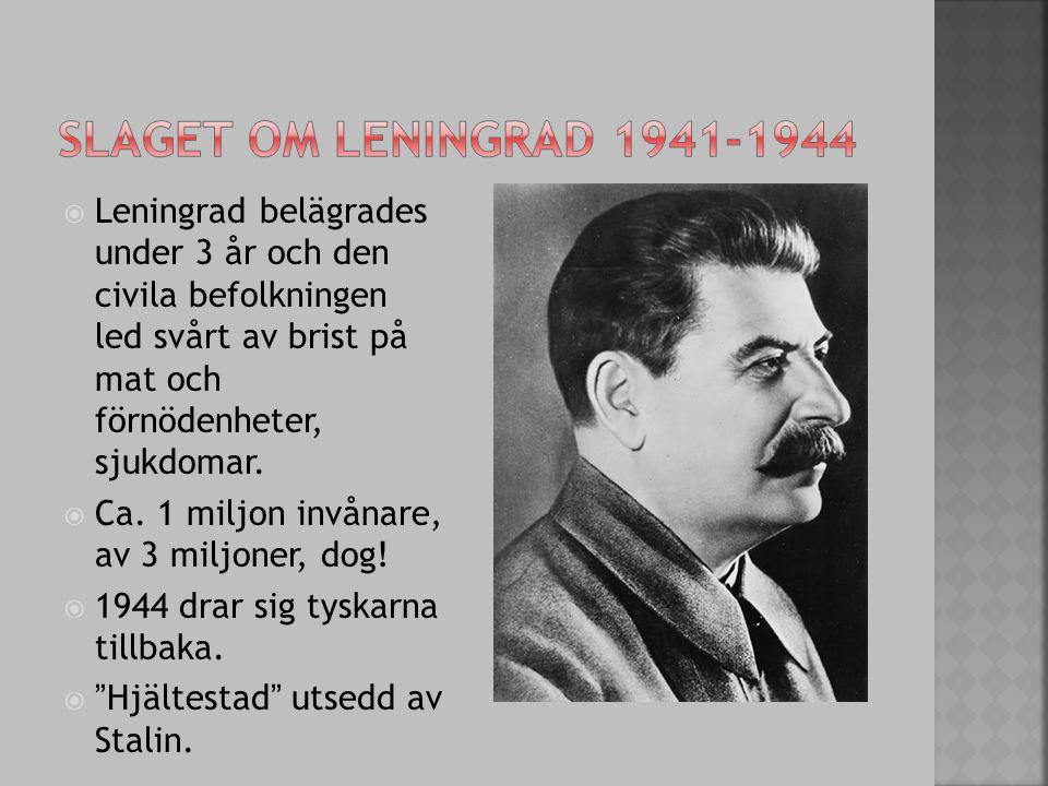 Slaget om leningrad 1941-1944