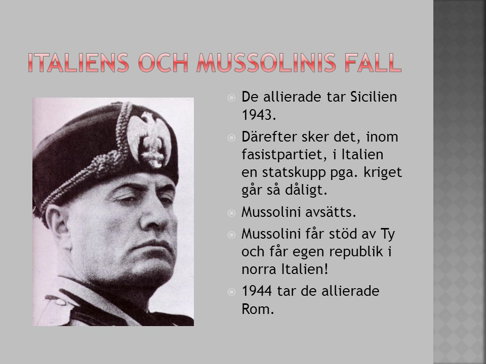 Italiens och Mussolinis fall