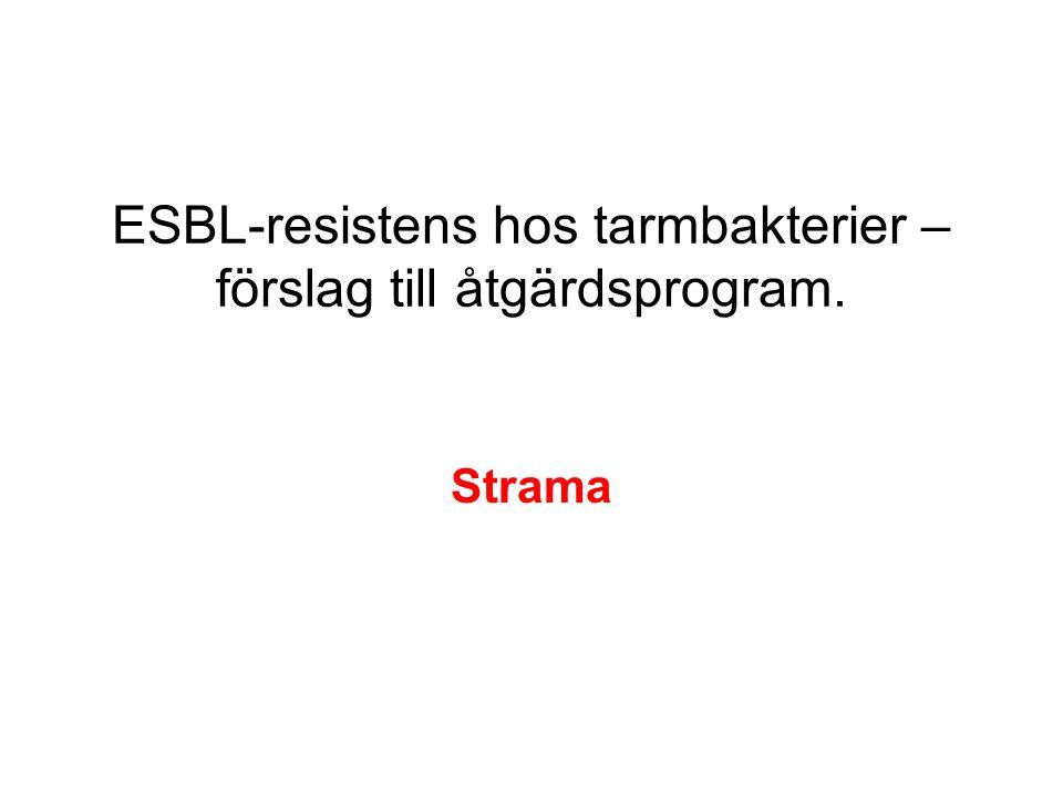 ESBL-resistens hos tarmbakterier – förslag till åtgärdsprogram.