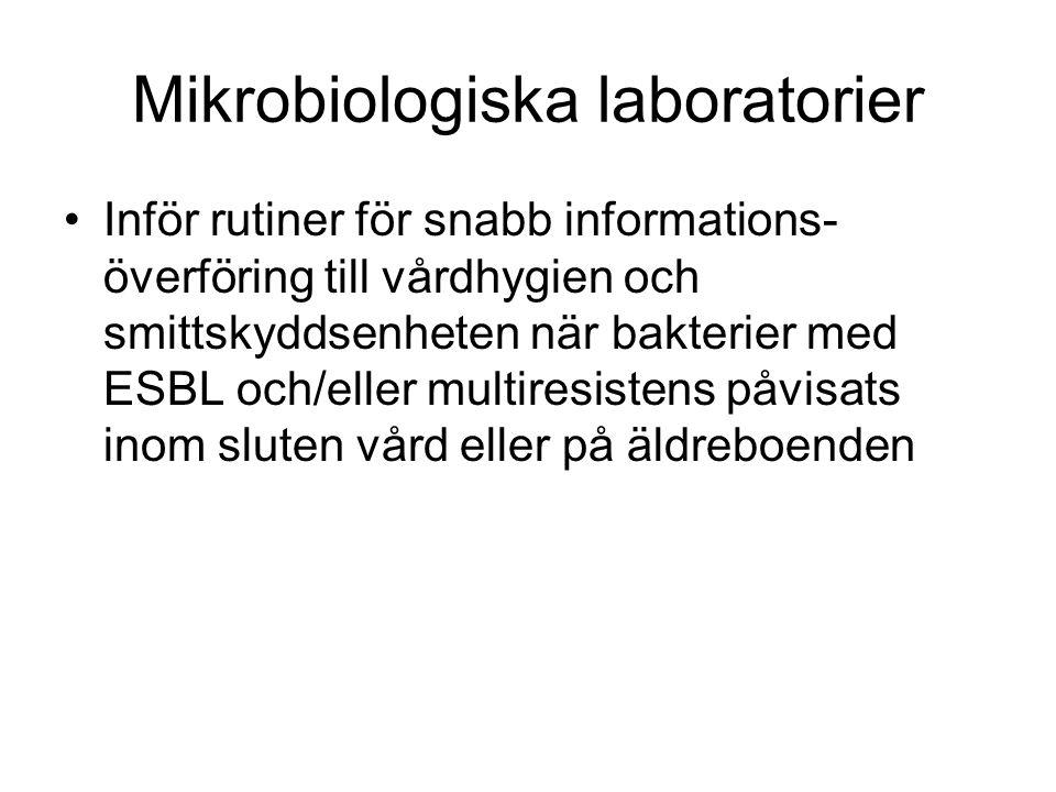 Mikrobiologiska laboratorier