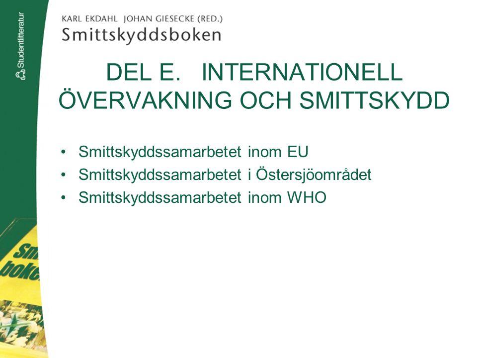 DEL E. INTERNATIONELL ÖVERVAKNING OCH SMITTSKYDD