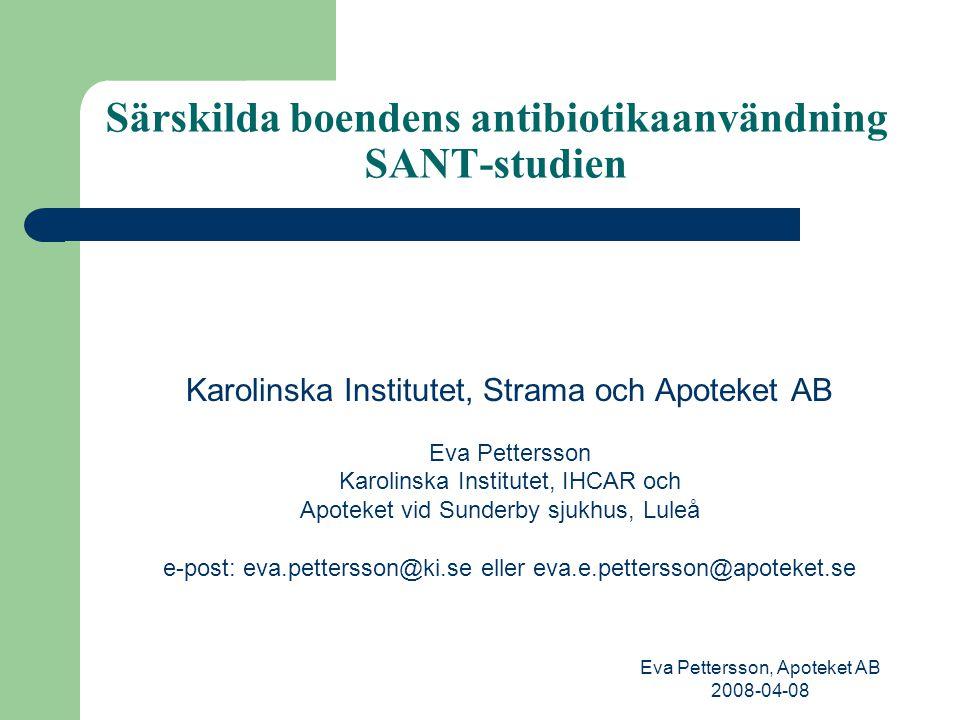 Särskilda boendens antibiotikaanvändning SANT-studien