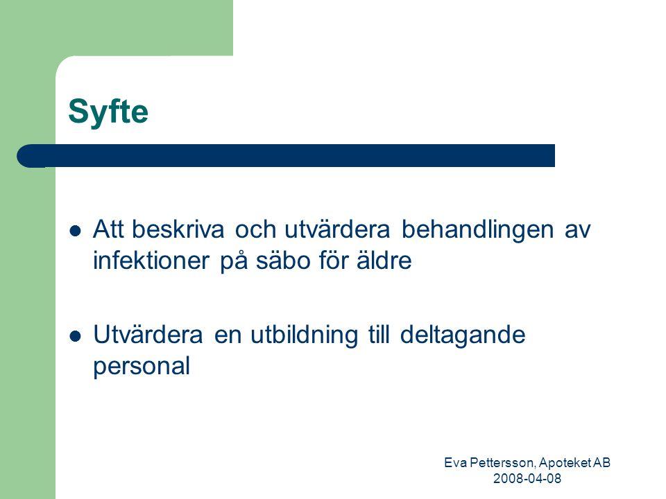 Eva Pettersson, Apoteket AB 2008-04-08