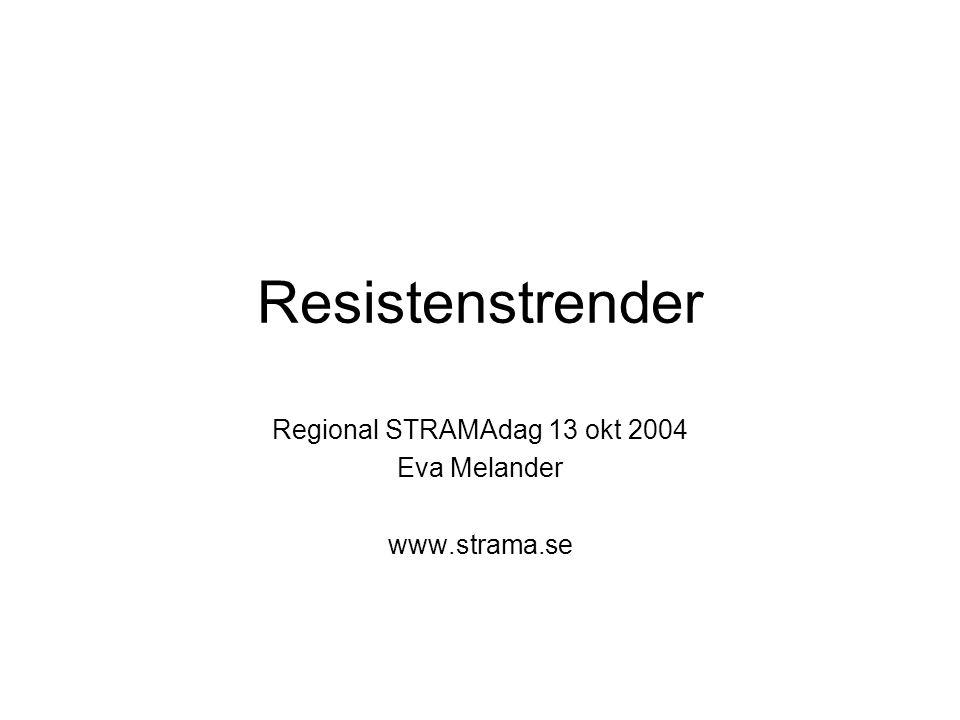 Regional STRAMAdag 13 okt 2004 Eva Melander www.strama.se