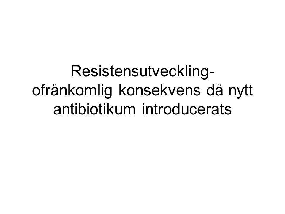 Resistensutveckling- ofrånkomlig konsekvens då nytt antibiotikum introducerats