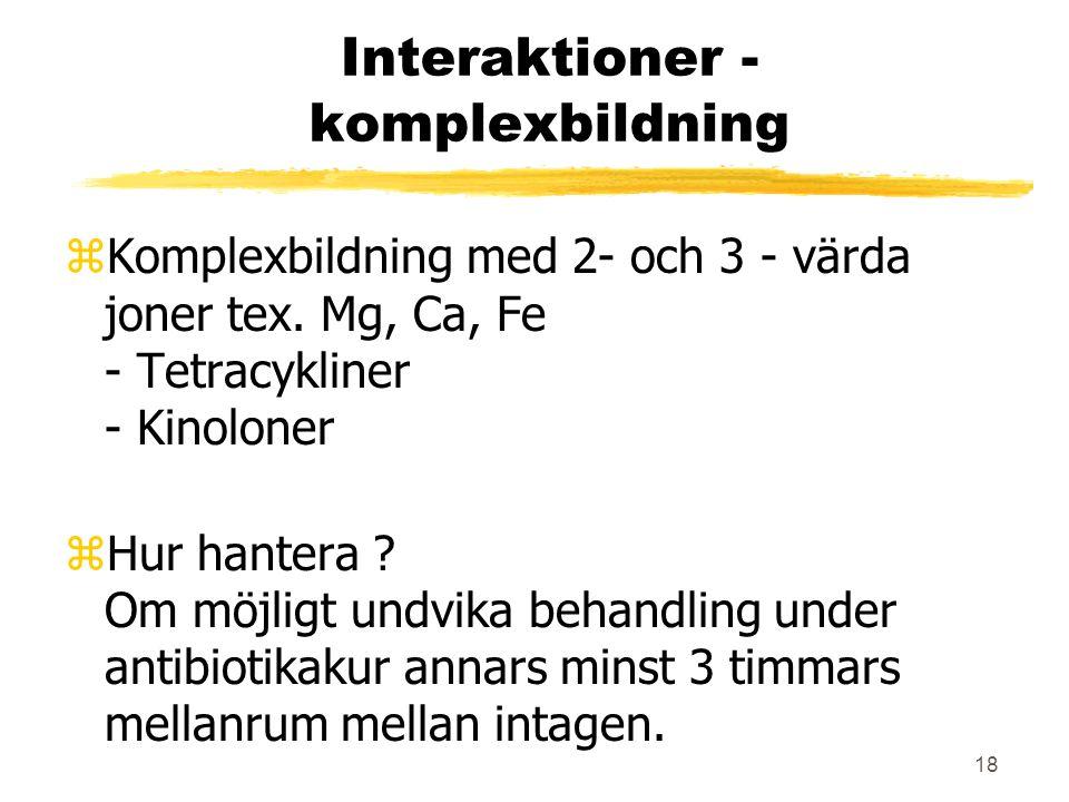 Interaktioner - komplexbildning