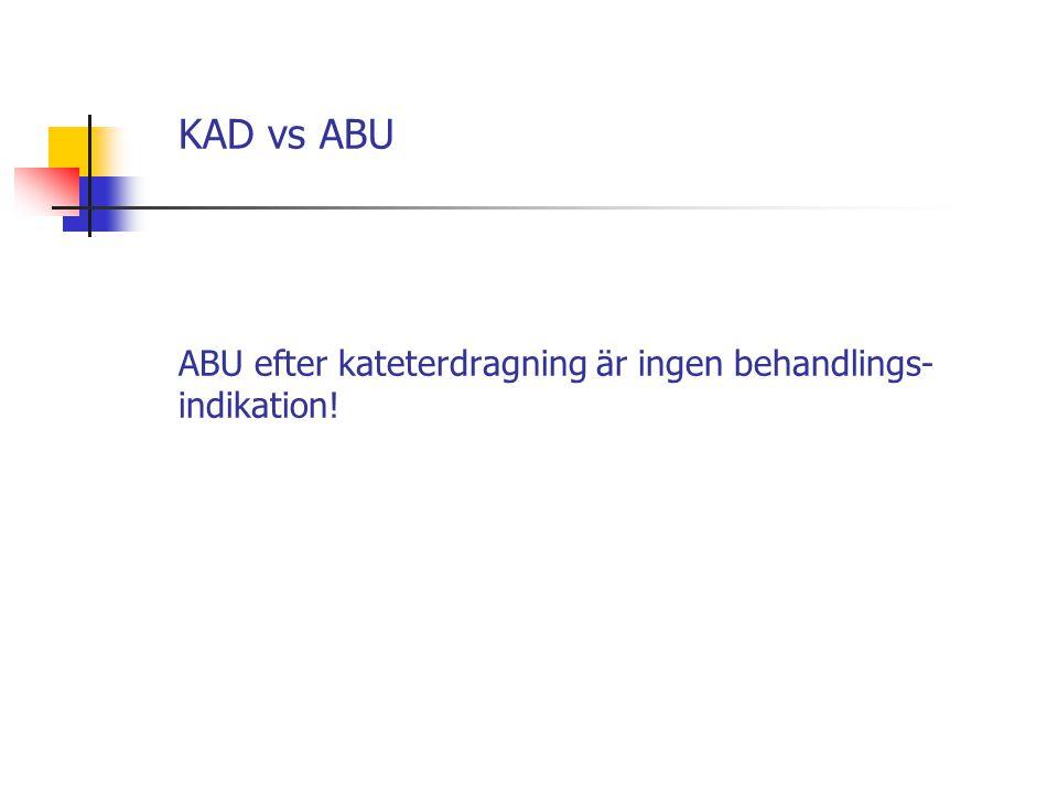 KAD vs ABU ABU efter kateterdragning är ingen behandlings-indikation!