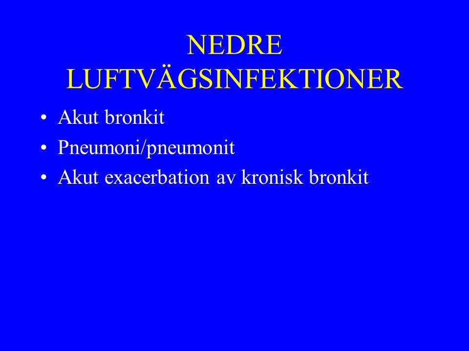 NEDRE LUFTVÄGSINFEKTIONER