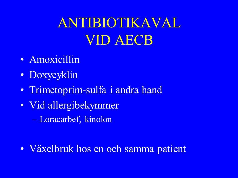 ANTIBIOTIKAVAL VID AECB