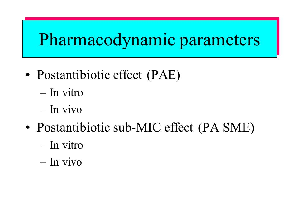 Pharmacodynamic parameters