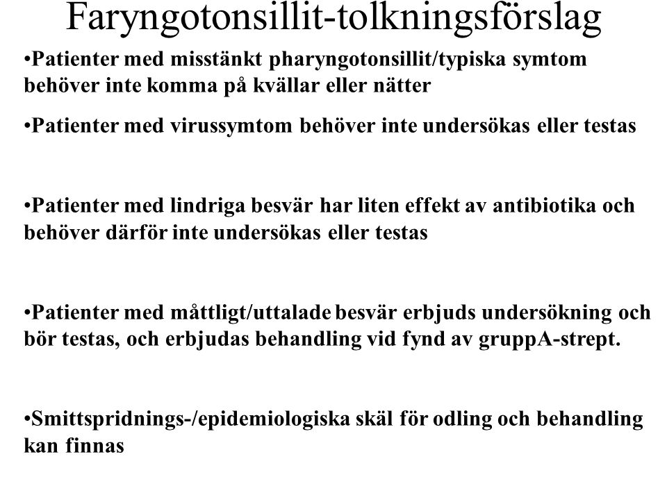 Faryngotonsillit-tolkningsförslag