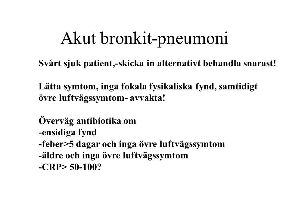 Akut bronkit-pneumoni