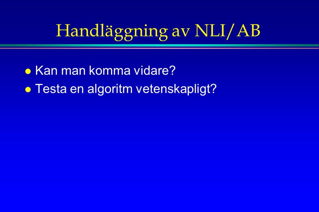 Handläggning av NLI/AB