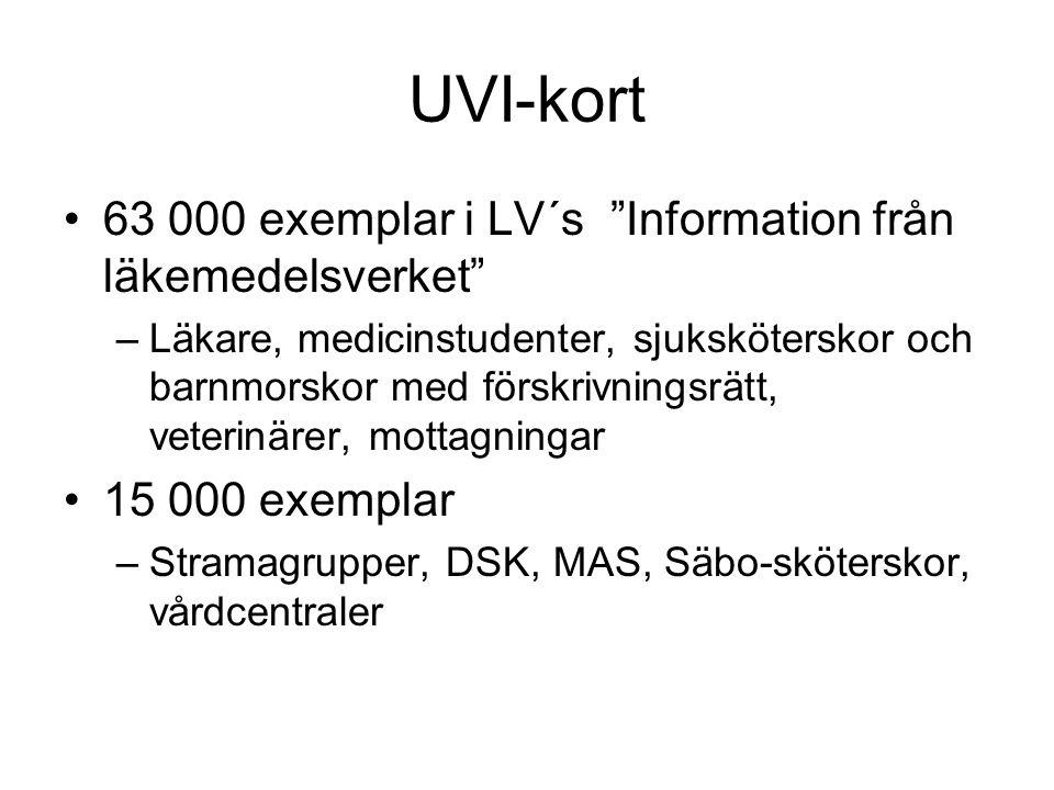 UVI-kort 63 000 exemplar i LV´s Information från läkemedelsverket