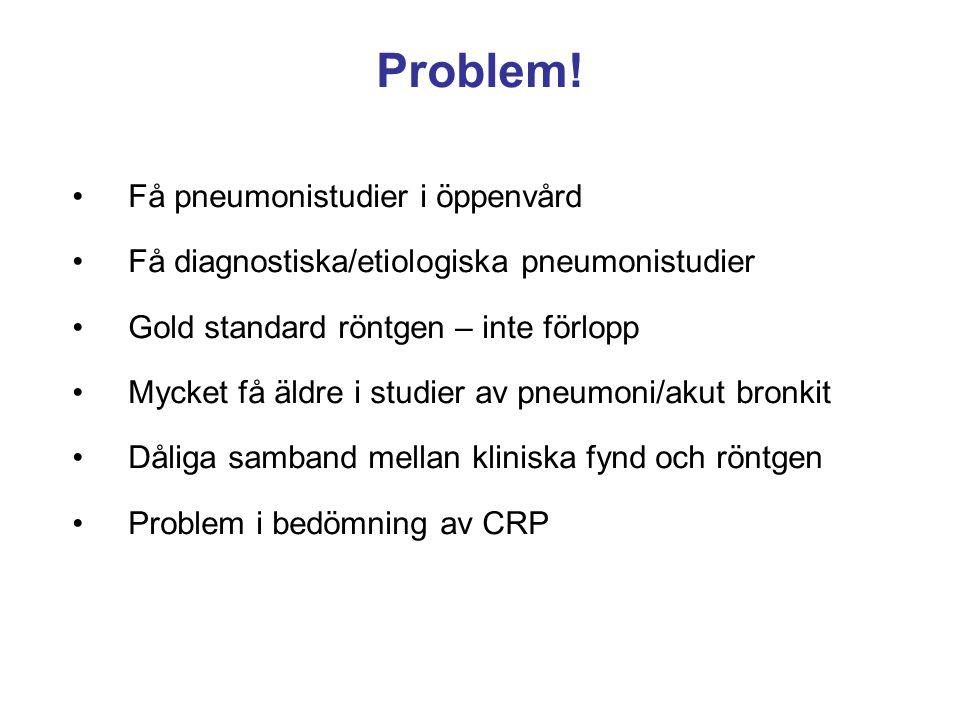 Problem! Få pneumonistudier i öppenvård