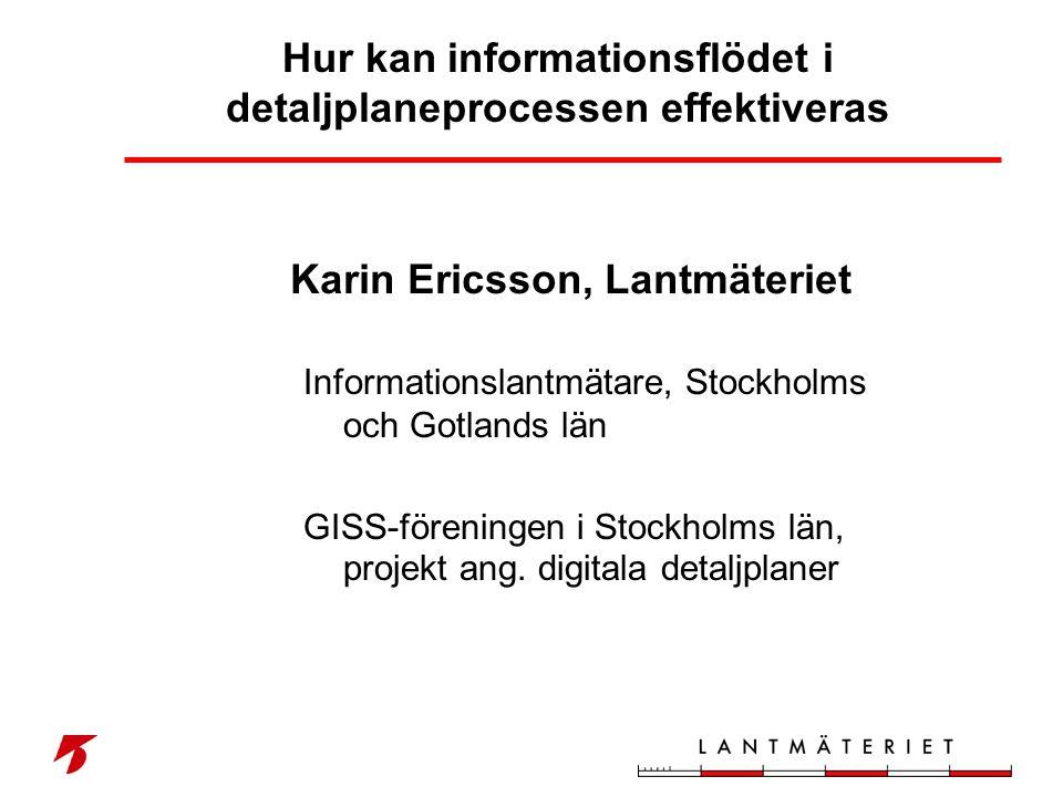 Hur kan informationsflödet i detaljplaneprocessen effektiveras