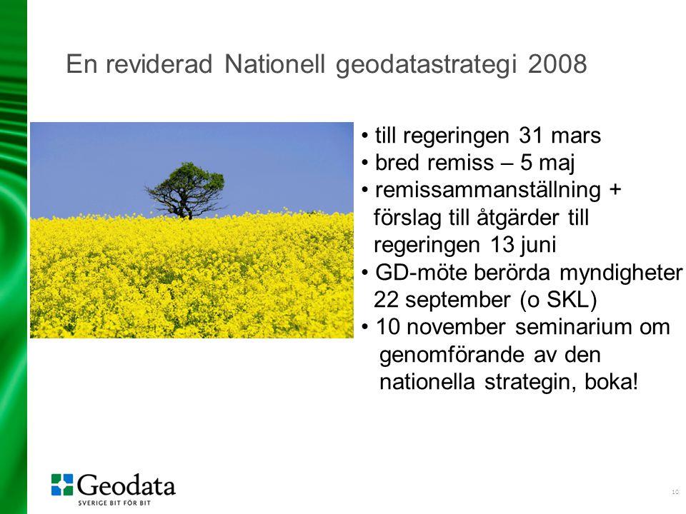 En reviderad Nationell geodatastrategi 2008