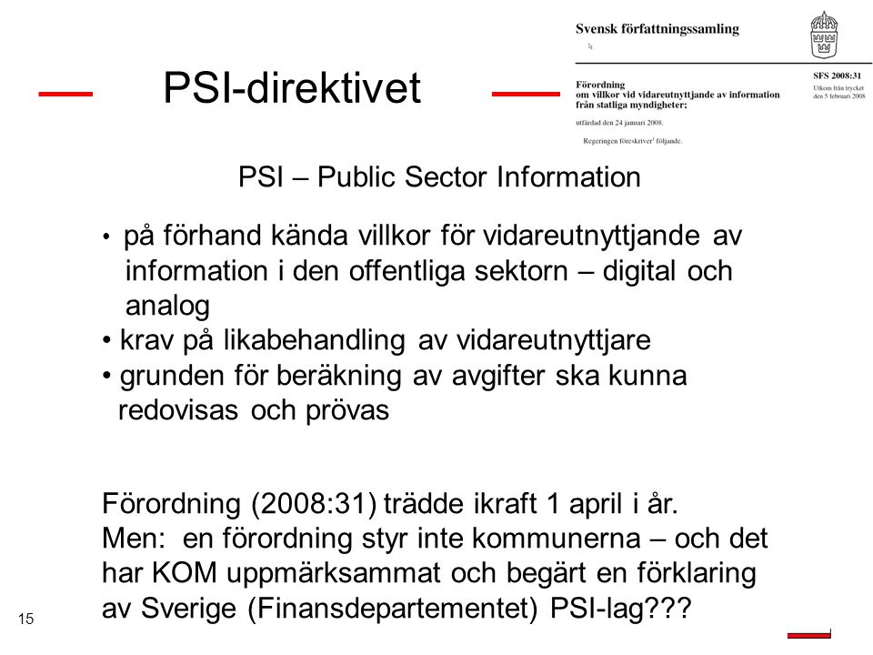 PSI – Public Sector Information