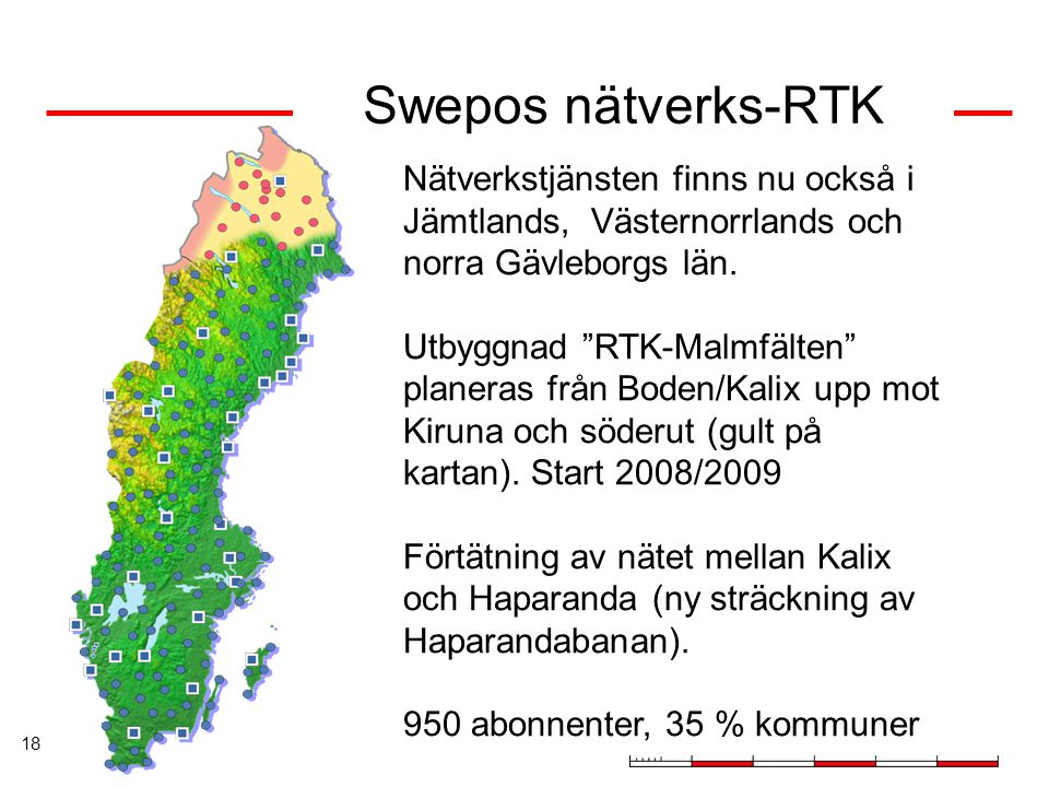 Swepos nätverks-RTK Nätverkstjänsten finns nu också i Jämtlands, Västernorrlands och norra Gävleborgs län.