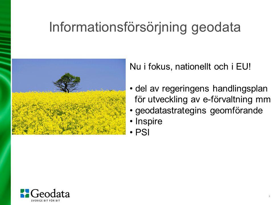 Informationsförsörjning geodata
