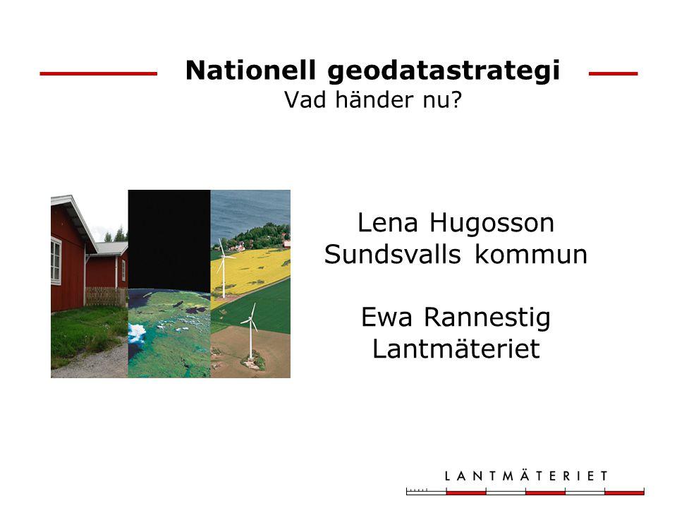 Nationell geodatastrategi Vad händer nu