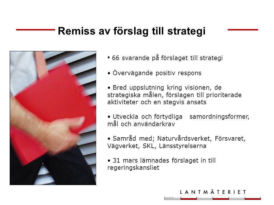 Remiss av förslag till strategi