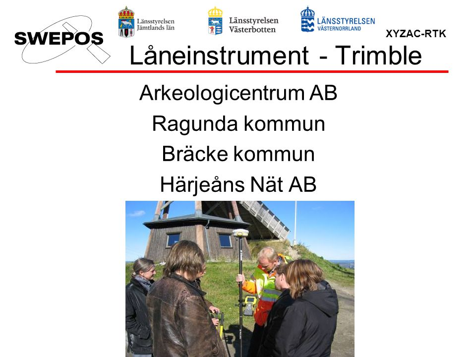 Låneinstrument - Trimble