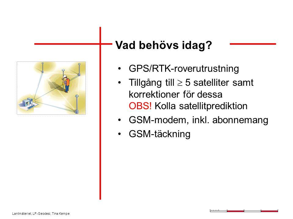 Vad behövs idag GPS/RTK-roverutrustning