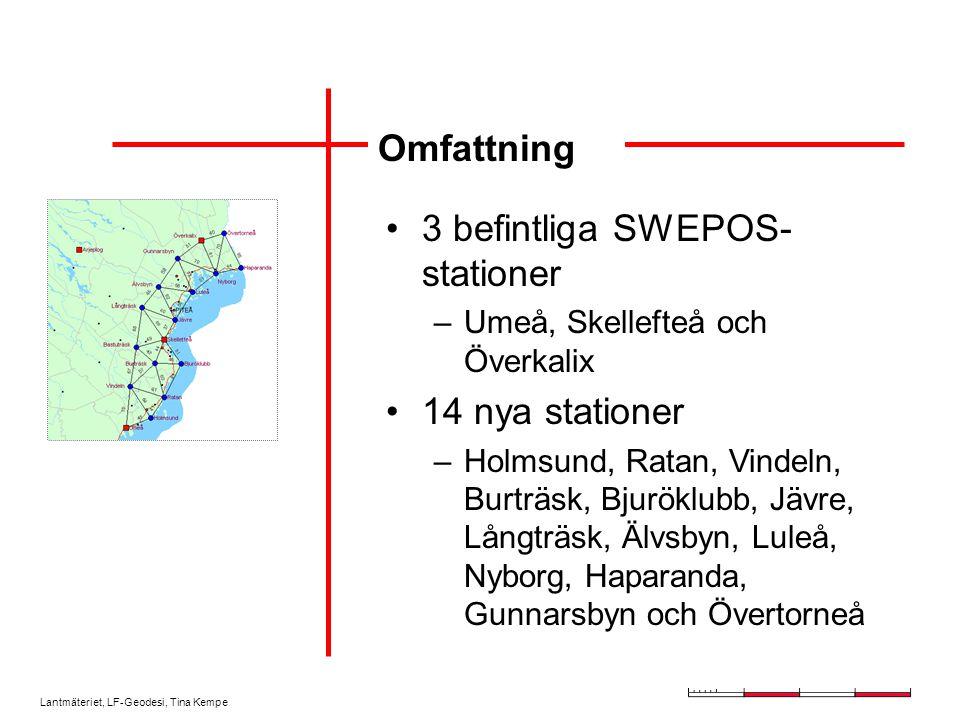 3 befintliga SWEPOS-stationer