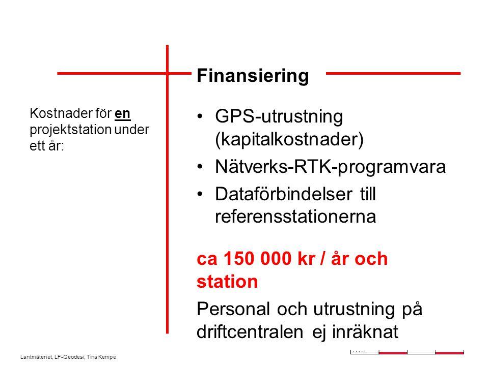 GPS-utrustning (kapitalkostnader) Nätverks-RTK-programvara