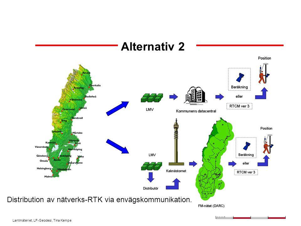Distribution av nätverks-RTK via envägskommunikation.