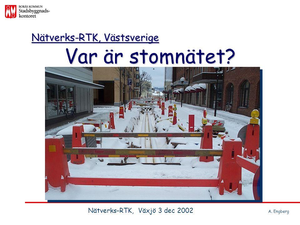 Nätverks-RTK, Västsverige Var är stomnätet