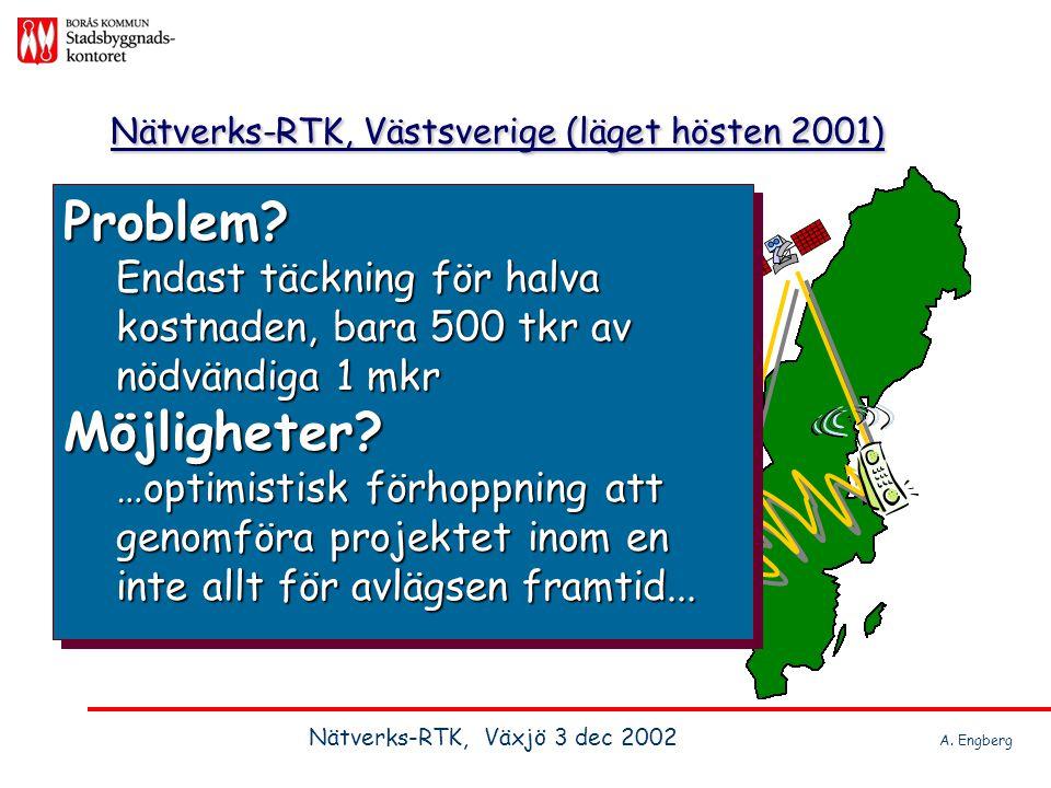Nätverks-RTK, Västsverige (läget hösten 2001)