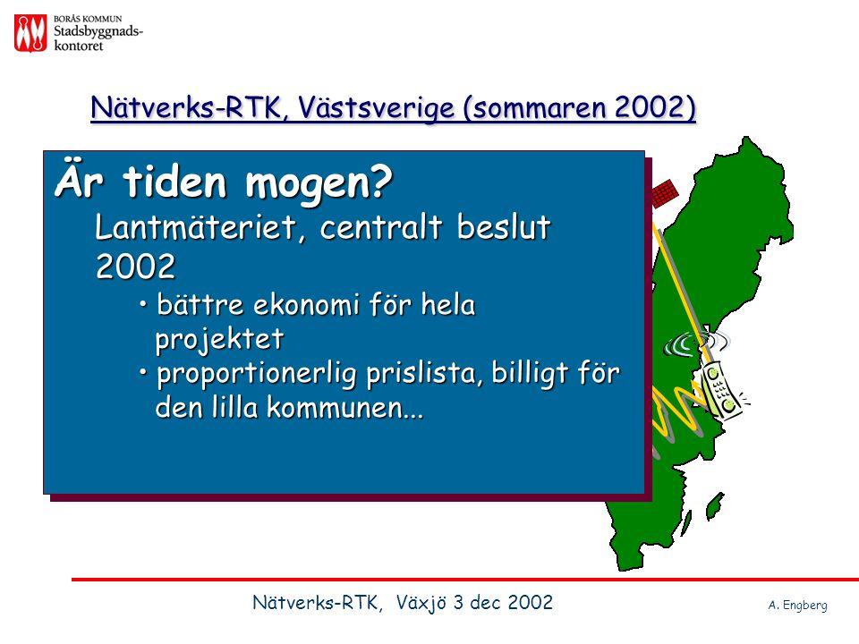 Nätverks-RTK, Västsverige (sommaren 2002)