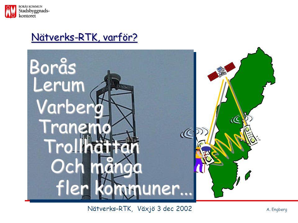 Nätverks-RTK, varför Borås Lerum Varberg Tranemo Trollhättan