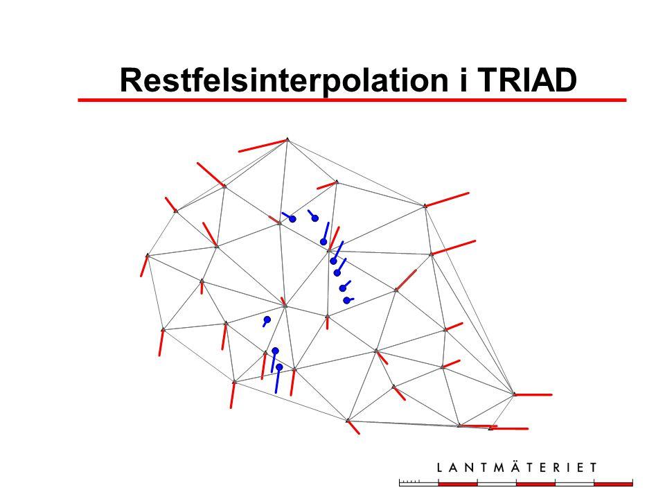 Restfelsinterpolation i TRIAD
