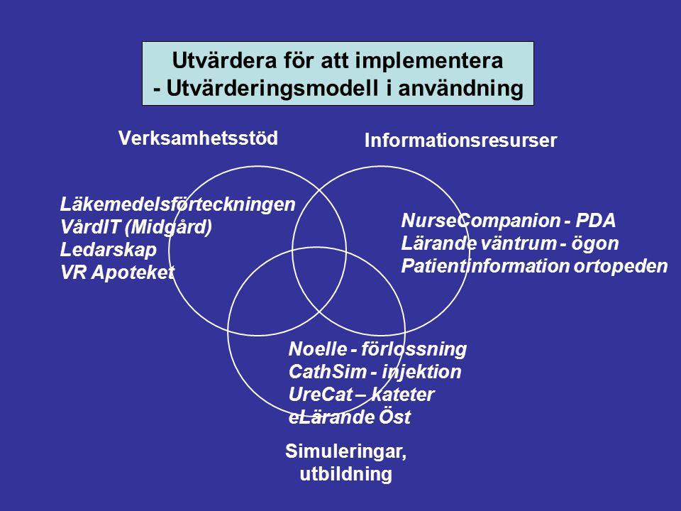 Utvärdera för att implementera - Utvärderingsmodell i användning