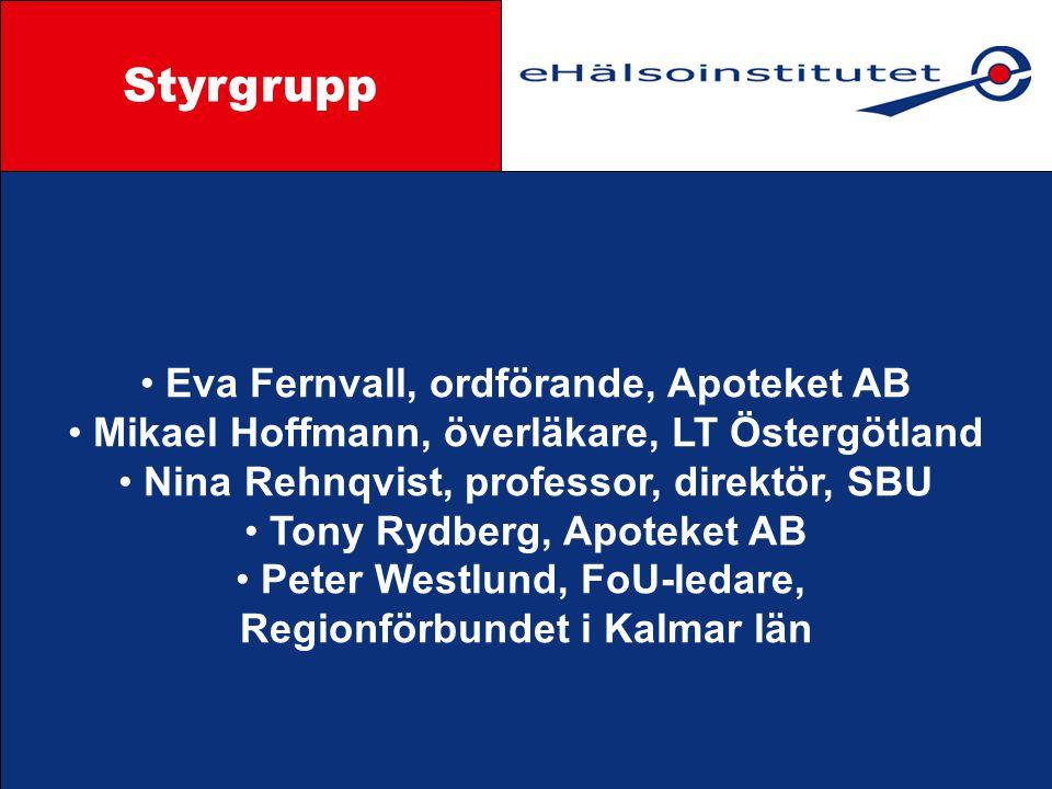 Styrgrupp Styrgrupp Eva Fernvall, ordförande, Apoteket AB