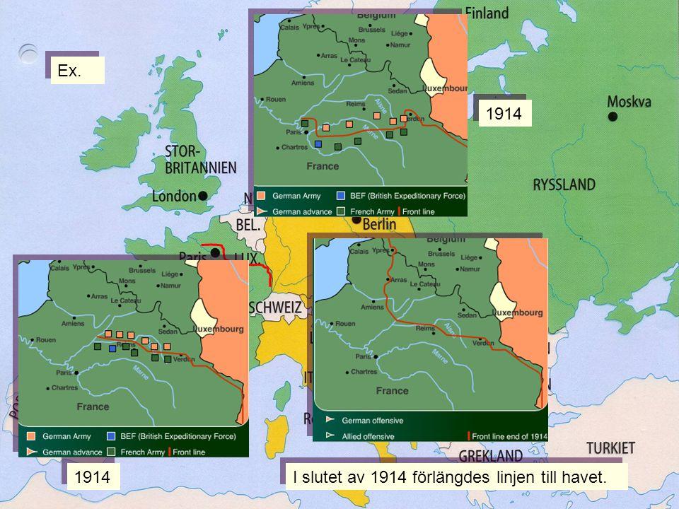 Ex. 1914 Linjen 1914 I slutet av 1914 förlängdes linjen till havet.