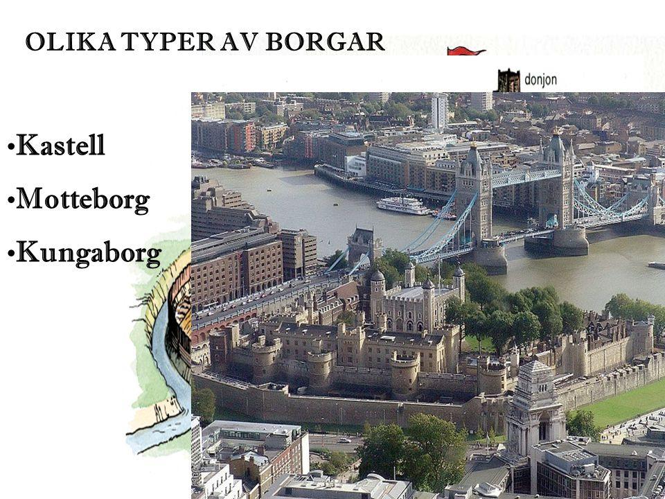 OLIKA TYPER AV BORGAR Kastell Motteborg Kungaborg