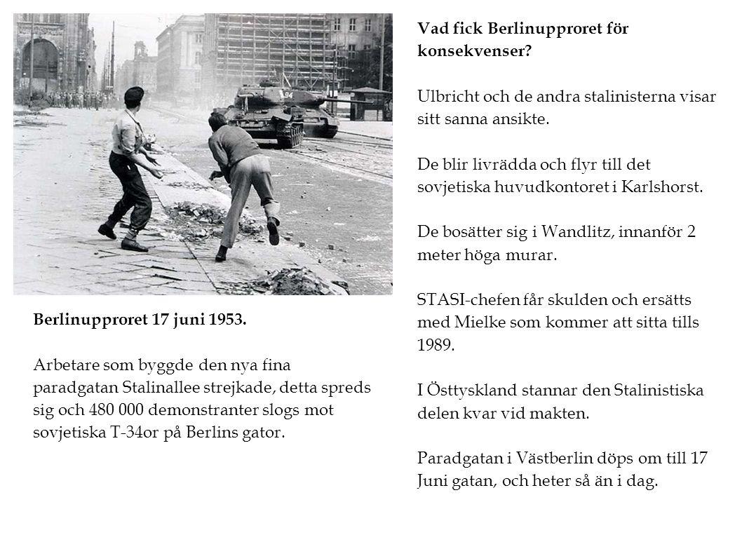 Vad fick Berlinupproret för konsekvenser