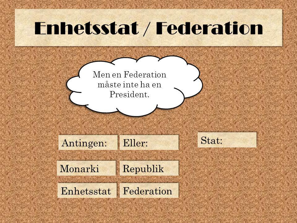 Enhetsstat / Federation